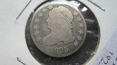 1825  CAPPED BUST DIME~Early U.S.SILVER~ VG