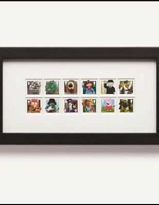 Classic Children's TV Stamp Set Royal Mail Special Edition Framed Black Wood NEW
