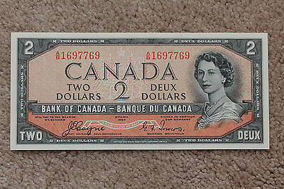 1954 Bank of Canada $2 Note, Devil's Face, Coyne Towers A/B 1697769