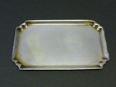 Estate Tea Serving Tray Dollhouse Miniature Sterling Silver 1948 London UK 3 5/8