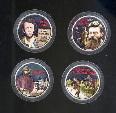 2003 Cook Island Bushranger 4 x 2oz Coloured Proof Coin Set