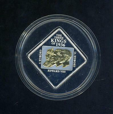2011 Niue Island Three Kings Gold Plated Silver Proof Coin - 50 Grams!