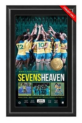 Sevens Heaven - Womens Rugby Sevens Personally Signed Gold Medallist Lithograph