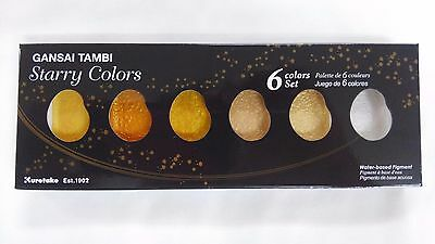 NEW Kuretake Gansai Tambi Starry colors 6 color set MC20SC/6V F/S
