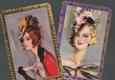 Playing Cards * Swap Cards *2 Vintage  English Named Ladies     1930/40's