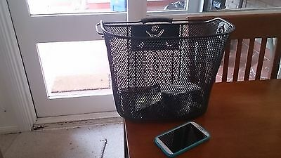 Wire bicycle basket for lady.