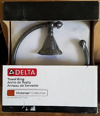 Delta Faucet 75046-RB Victorian Towel Ring Venetian Bronze NEW **FREE SHIPPING**