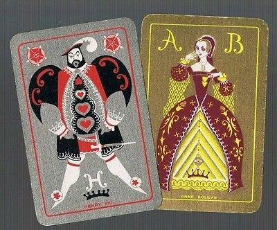 Playing Cards *swap Cards *2 Vintage  English  Named  Lady  Gent 1930/40's
