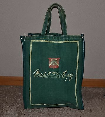 Vintage 1940's-50's Marshall Field & Company Canvas Tote Shopping Bag