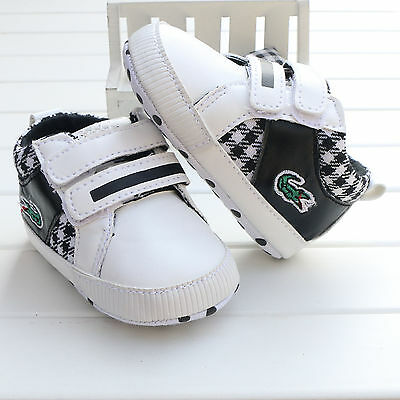 Black Toddler infant Baby boy girl Soft Sole Crib Shoes sneaker size 0-18 Months