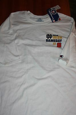 Notre Dame Men`s  White Football Game Day Shirt NCST by Champion size 3XL