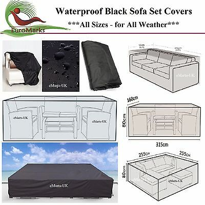 Waterproof Sofa Set Cover Garden Outdoor Patio 2-12 Seater Corner Sofa Cover New