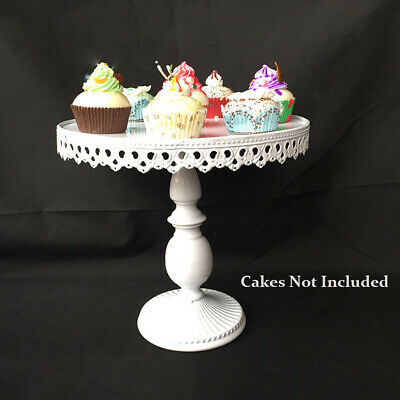 12-inch Vintage Cupcake Cake Stand Dessert Platter Holder Wedding Party White