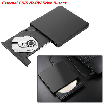 Slim External Disc Optical Drive Portable USB 3.0 CD/DVD-RW Writer Player Burner
