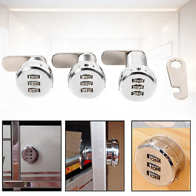 3 Digit Code Combination Cam Coded Lock Password Cabinetlock Chest Cipher-lock H