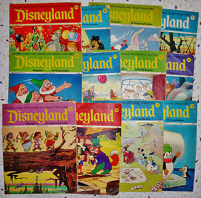 1970s Disneyland Magazine LOT of 12 ISSUES # 11 14 23 36 43 45 52 56 72 79 91 97