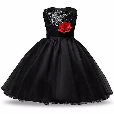 Flower Girl Princess Pageant Wedding Party Formal Birthday Kids Prom Gown Dress