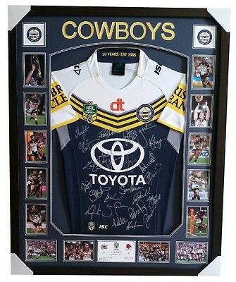 North Queensland Cowboys Signed jersey 2015 framed  100% Genuine Memorabilia
