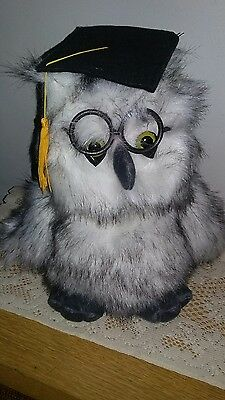 Chantilly Lane - Musical Owl graduation owl plays graduation March flaps wings