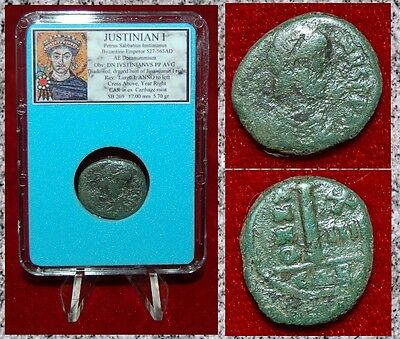 Ancient Byzantine Empire Coin Of JUSTINIAN I Deanummium Carthage Rare Mint