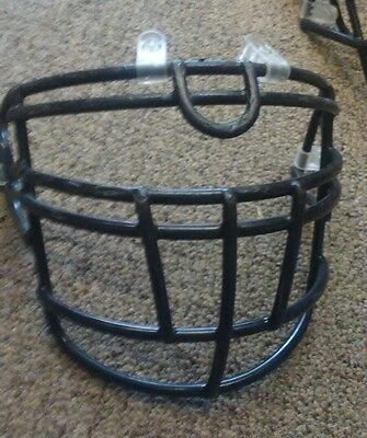 Facemask for Football Helmet full cage black w/ loops Riddell #15