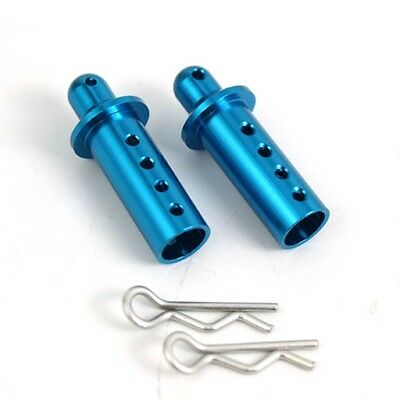 ALLOY Adjustable Body posts for Tamiya HPI HBX AXIAL 1:10 RC - BLUE