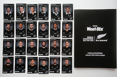 ALL BLACKS RUGBY WORLD CHAMPIONS 2016 LEGACY 24 card set Plus ALBUM New Zealand