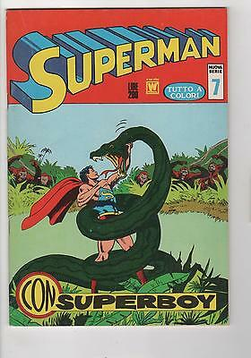 SUPERMAN no. 7 1972 ITALIAN / MILANO FINE+ 6.5
