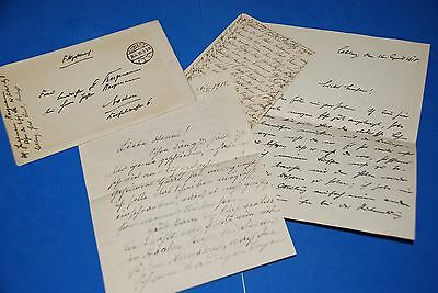 1918 World War, German Captain Field Post Vintage old Letter WWI, Antique L55