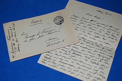 1918 World War, German Captain Field Post Vintage old Letter WWI, Antique L57