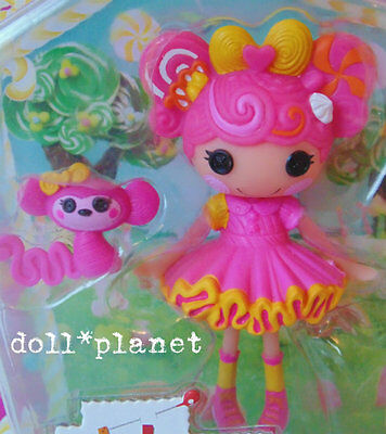 NEW  LALALOOPSY MINI Whirly Stretchy Locks pink yellow w/ monkey - Sugary Sweets