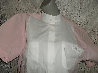 DUBLIN Ladies white and pink riding comp show buttonup shirt Sz 12