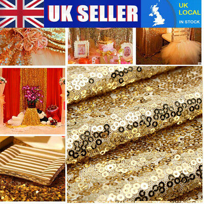 Champagne Gold Glitter Sequin Table Runner Sparkly Wedding Party Decor 1/2/5/10x