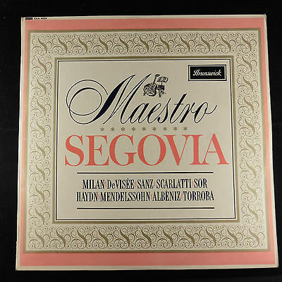 Vinyl Album SEGOVIA Brunswick  First Press EX+/EX+  Stereo SXA 4535