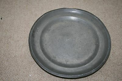 Military Antique Pewter Plate With Broad Arrow Mark
