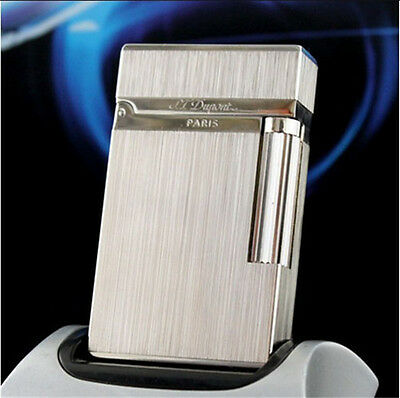 S.T Memorial in box Dupont lighter Silver Hot Bright Sound