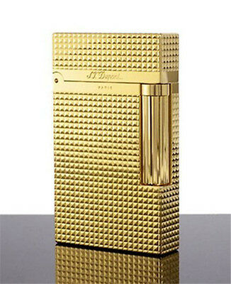 Bright Sound Golden in box Dupont lighter S.T Memorial