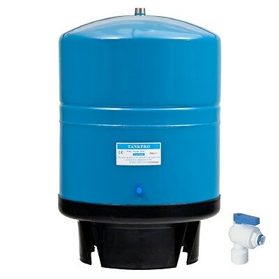 11 Gallon Stainless Steel Storage Tank for RO Water + Quick-Fit Pressure Valve
