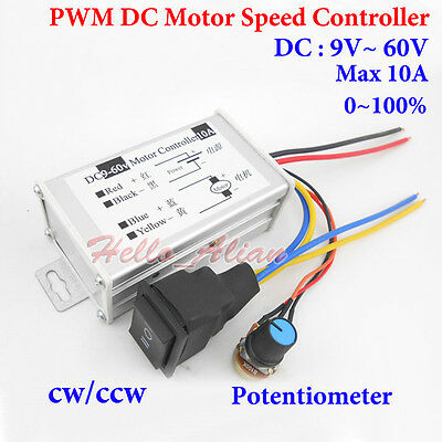 MagiDeal DC 6V to 28V 3A 80W Motor Speed Controller Adjustable PWM reversing Switch Umschalter