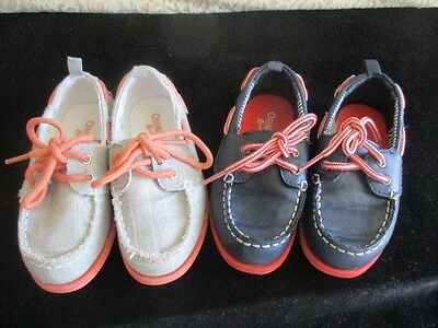 Lot of Two (2) Pairs of OshKosh B'gosh Toddler Boys Casual Shoes