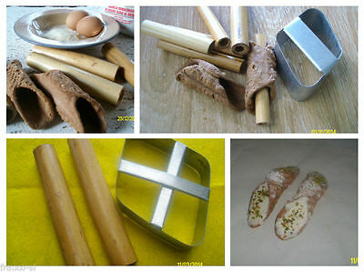 2 sets - cannoli cutters and forms - traditional Sicilian dessert *Special offer