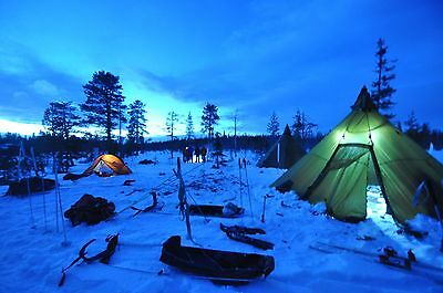The Incredible Pulk sledging Expedition Sweden March 2018.