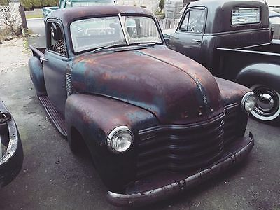 1952 chevy 5 window bagged hot rod truck patina chevrolet v8 ps power brakes