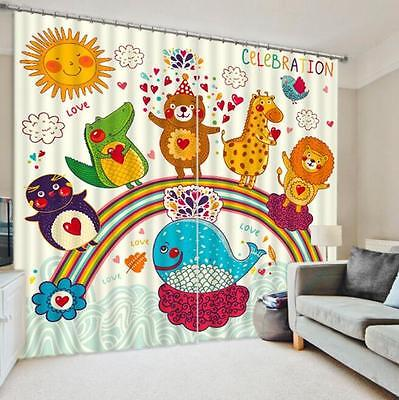 3D Cartoon 7 Blockout Photo Curtain Printing Curtains Drapes Fabric Window CA