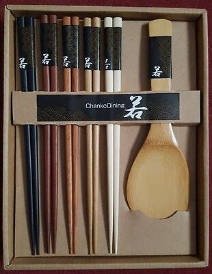 Brand New, Chopstick Bamboo Set With Spoon, Complete With Box, Circa : 2000's...