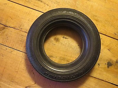 Vintage Rubber MOHAWK ULTISSIMO Advertising Tire For A Glass Ashtray