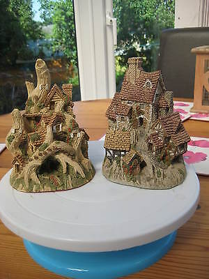 """David Winter """"the Woodcutters Cottage & The House On Top"""".early White Labels."""