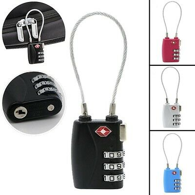 TSA Resettable 3 Digit Combination Lock Travel Luggage Suitcase Code Padlock New