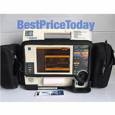 Lifepak 12 Biphasic 12 Lead ECG NIBP SPO2 Masimo set Analyze 2 Batteries Case