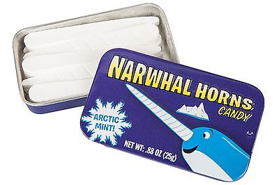 Narwhal Horn Candy Artic Mint Flavour in Collectable Tin